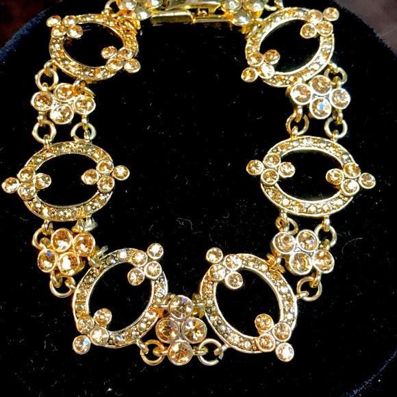 Monet gold tone Rhinestone Bracelet